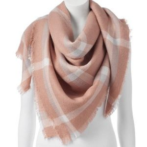 LC Lauren Conrad NWT Plaid Square Blanket Scarf